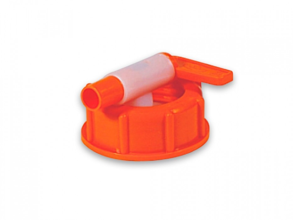 Plastic outlet valve with swivel nut nom. diam. 10 for must container