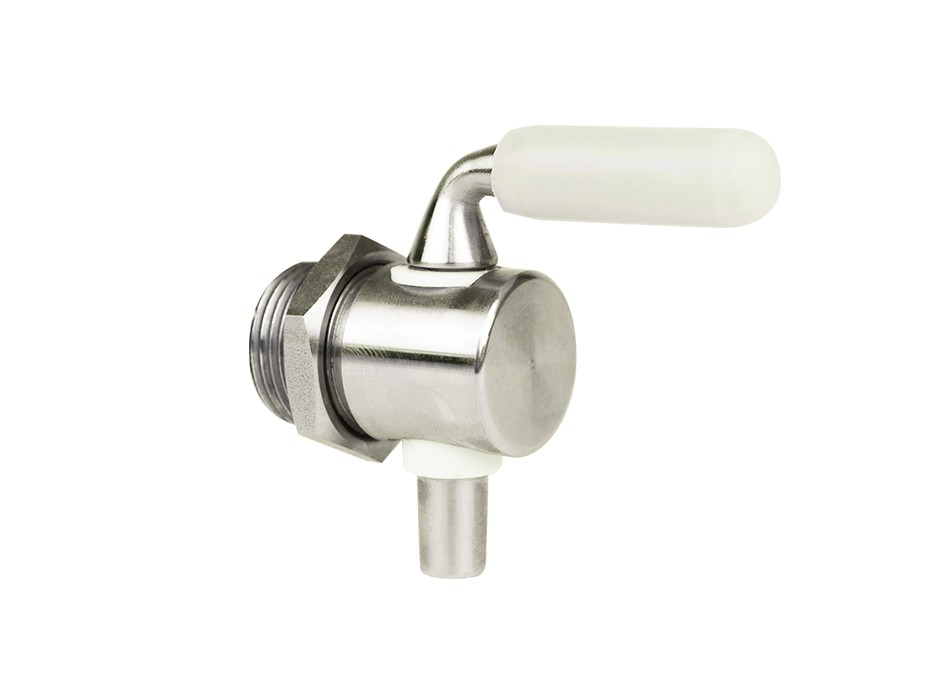 Stainless steel drain valve with lock nut