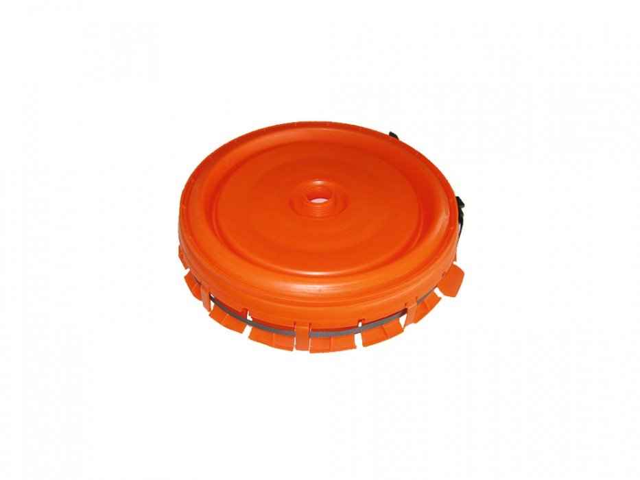 Complete lid for 60 and 120-litre round container