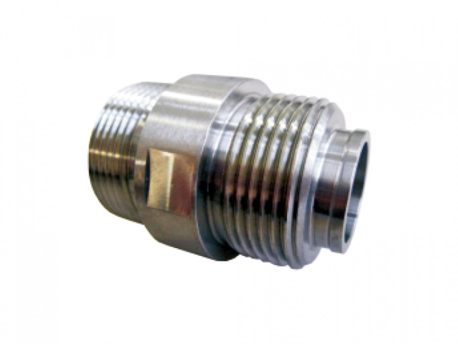 Stainless steel threaded connector (Mainz thread)