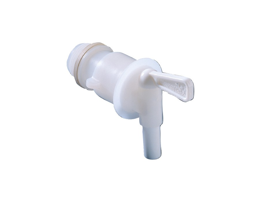 PE outlet valve for juice container